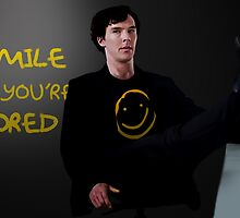 Smile if You're Bored Sherlock by nero749