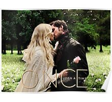 Captain Swan Camelot Garden Digital Watercolor Design 1 Poster