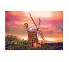 Cley Windmill Norfolk Art Print