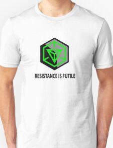 Resistance Is Futile Ingress Enlightened Design Unisex T-Shirt