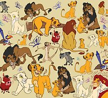 The Lion King Character Collage. by steffirae