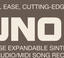 Vintage Juno G Synthesizer Sticker