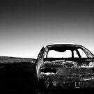 Derelict car, Eaglesham Moor by GuyHinksPhoto