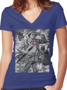 The Seventh Doctor Women's Fitted V-Neck T-Shirt