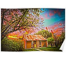 Hill End NSW - Spectacular Sunset HDR Poster