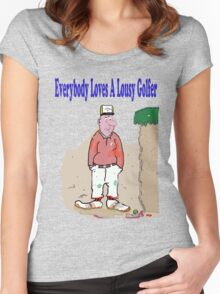 Lousy Golfers Women's Fitted Scoop T-Shirt