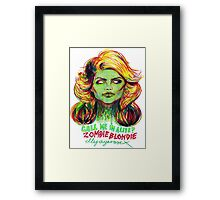 Zombie Blondie Framed Print