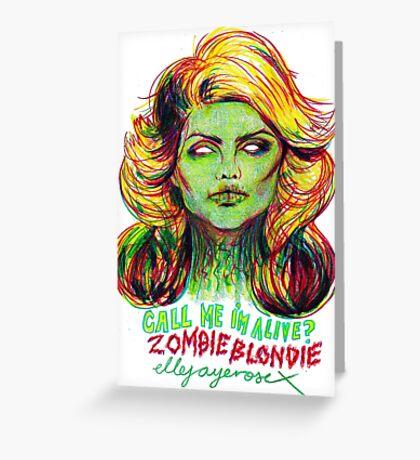 Zombie Blondie Greeting Card