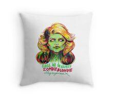 Zombie Blondie Throw Pillow