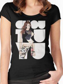 TWICE 'Chou Tzuyu' Typography Women's Fitted Scoop T-Shirt