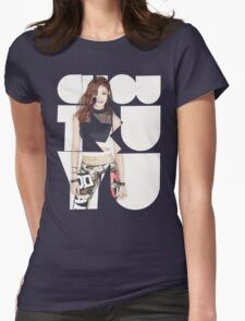 TWICE 'Chou Tzuyu' Typography Womens Fitted T-Shirt