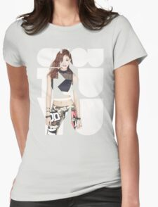 TWICE 'Chou Tzuyu' Typography Womens Fitted T-Shirt