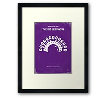 No010 My Big Lebowski minimal movie poster Framed Print