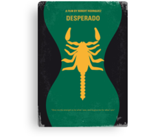 No021 My Desperado minimal movie poster Canvas Print
