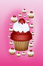 Cherry Cupcake .. iphone case by LoneAngel