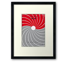 No024 My Dr No James Bond minimal movie poster Framed Print
