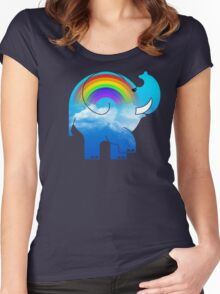 ELLE RAINBOW Women's Fitted Scoop T-Shirt