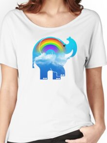 ELLE RAINBOW Women's Relaxed Fit T-Shirt