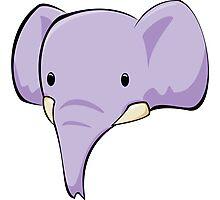 Elephant head Photographic Print