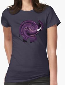 ELLE SWIRL Womens Fitted T-Shirt