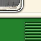 Cream Green Camper Van by Ra12