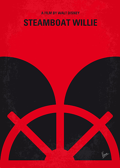 No085 My Steamboat Willie minimal movie poster by Chungkong