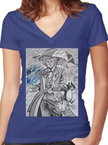 The Sixth Doctor Women's Fitted V-Neck T-Shirt