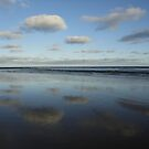 Cloud & Sky Reflections, Breamlea Beach, Australia 2014 by muz2142