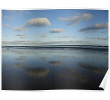 Cloud & Sky Reflections, Breamlea Beach, Australia 2014 Poster