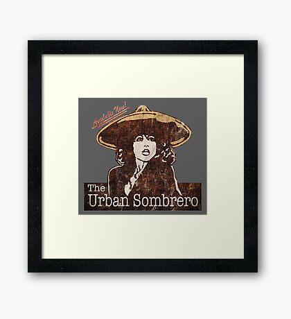 The Urban Sombrero Framed Print