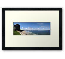 Downhill Beach Framed Print