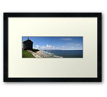 Downhill Beach Framed Print