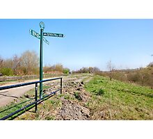 SIGNPOST ON THE CANALSIDE. Photographic Print
