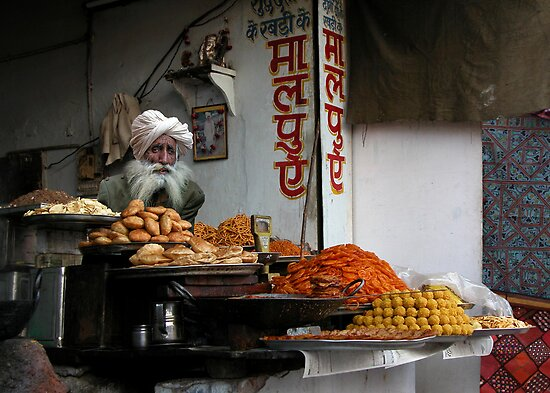 FAST FOOD - PUSHKAR by Michael Sheridan