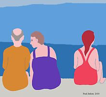 Friends at Beach by Fred Jinkins