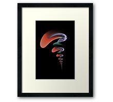 Psychedelic Smoke Framed Print
