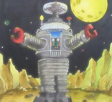 B-9 ROBOT LOST IN SPACE by ward-art-studio