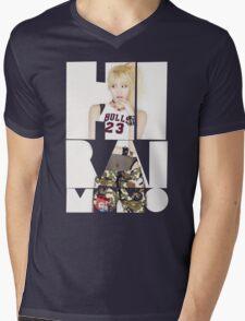 TWICE 'Hirai Momo' Typography Mens V-Neck T-Shirt