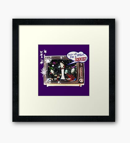 "Popular Science: ""Back off man, I'm a Scientist!"" Framed Print"