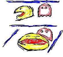 Pac man + Pinky by Almeister5000