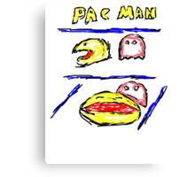 Pac man + Pinky Canvas Print