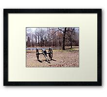 Cannon at Shiloh Battlefield Framed Print