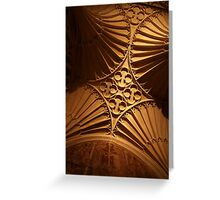 Tewkesbury Abbey - Vaulted Ceiling Greeting Card
