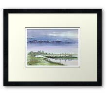 TRANQUIL BEAUTY - AQUAREL Framed Print