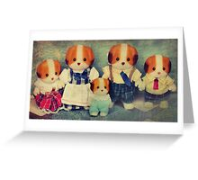 Chiffon Dog Family Greeting Card