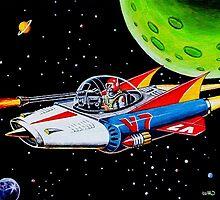 V-7 SPACE SHIP by ward-art-studio