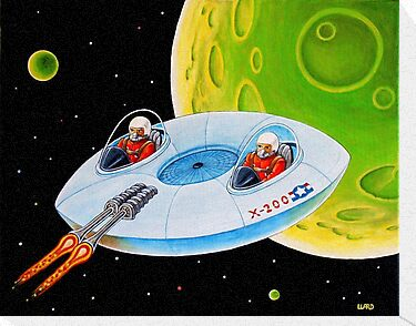 X-200 FLING SAUCER by ward-art-studio