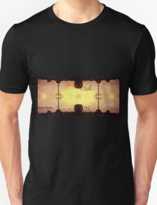 Atomic Sun over a suburban infinity The end is near Don't trust messages in clouds T-Shirt