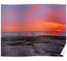 Cadillac Mountain Sunrise  - Acadia Poster