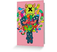 Monster Brains Greeting Card